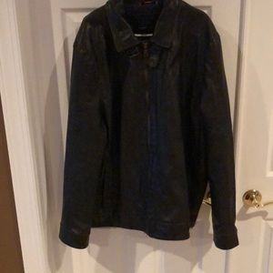 Roomy Hilfiger faux leather xxl coat